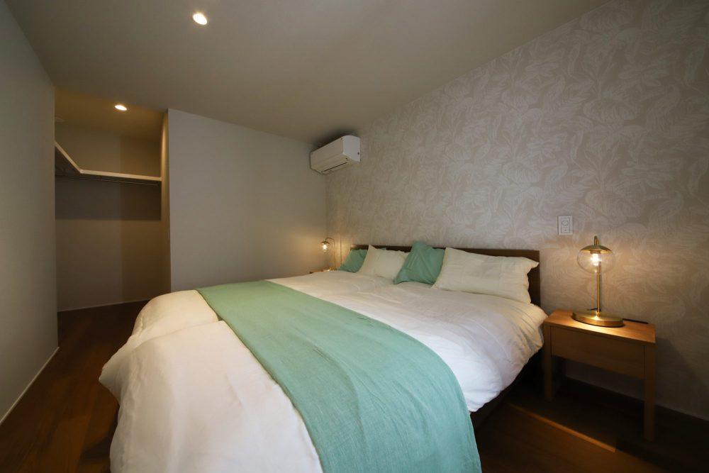 アジアンリゾート風の寝室
